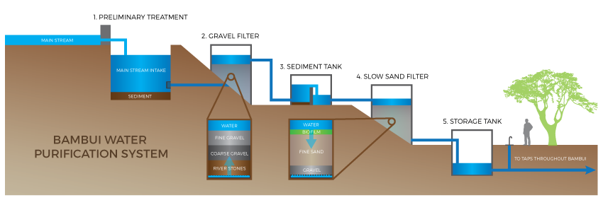 Infographic of Bambui's Water Purification System